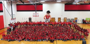 Rooty Rebel at Drew Elementary