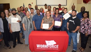 H-1B Ready to Work Petrochem Grant grads and staff from the Center for Workforce and Community Development