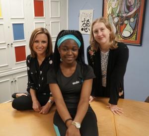 Georgeann Ward, Cilah Ndofor, and Emily Blumentritt